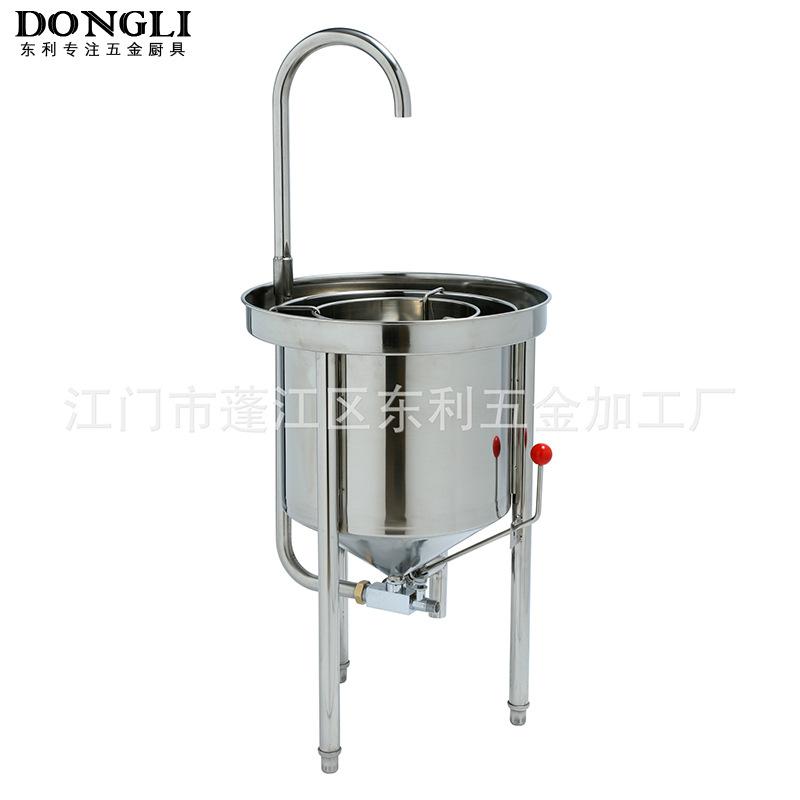 厂家直销 不锈钢 25 50 100KG 水压式自动洗米机淘米机