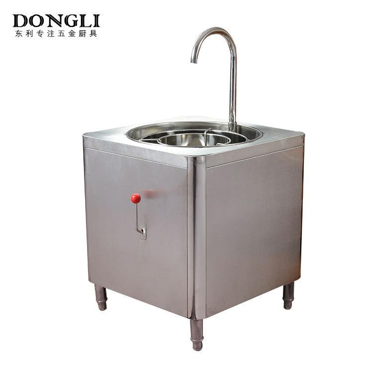 厨房设备厂家 不锈钢方形洗米机 酒楼餐厅厨房洗米机干净快速便利