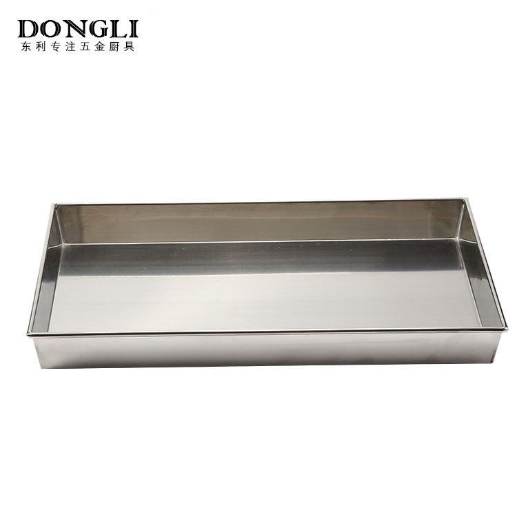 双拉手设计防烫手圆盘厂家直销批发 不锈钢方盘 厨房食物容器