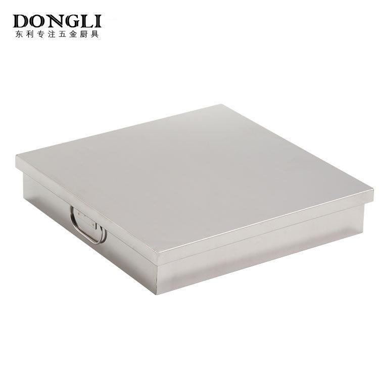 不锈钢加厚9寸方盒 双拉手设计防烫手带盖子方盘 厨房餐具批发