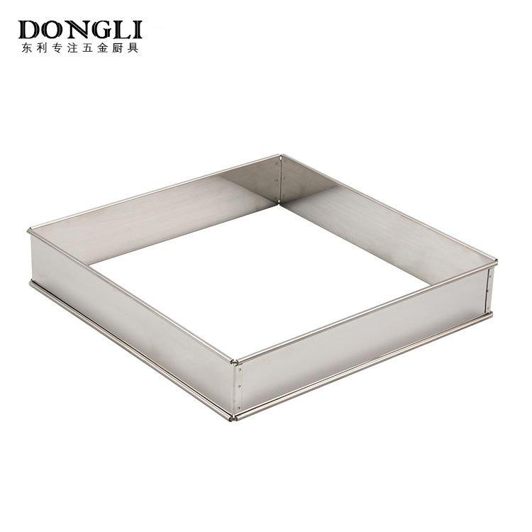 不锈钢加厚9寸方格 厨房烘培定型用品批发 厨房用品生产厂家
